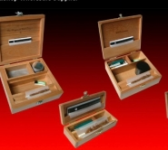wood crafted smoking boxes