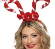 santa christmas cane hat with dickie bows
