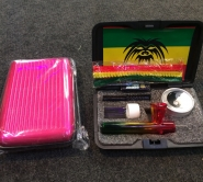smoking set in beautiful coloured case